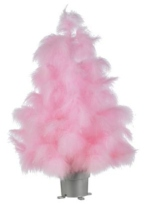 Pink Feather Tree B&Q