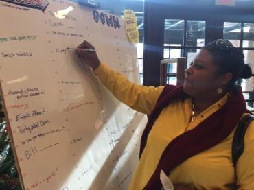 MJHS Principal Johnson writes a clue!